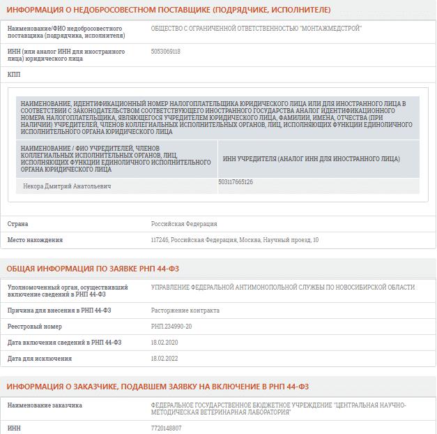 Все подробности о реестре недобросовестных поставщиков